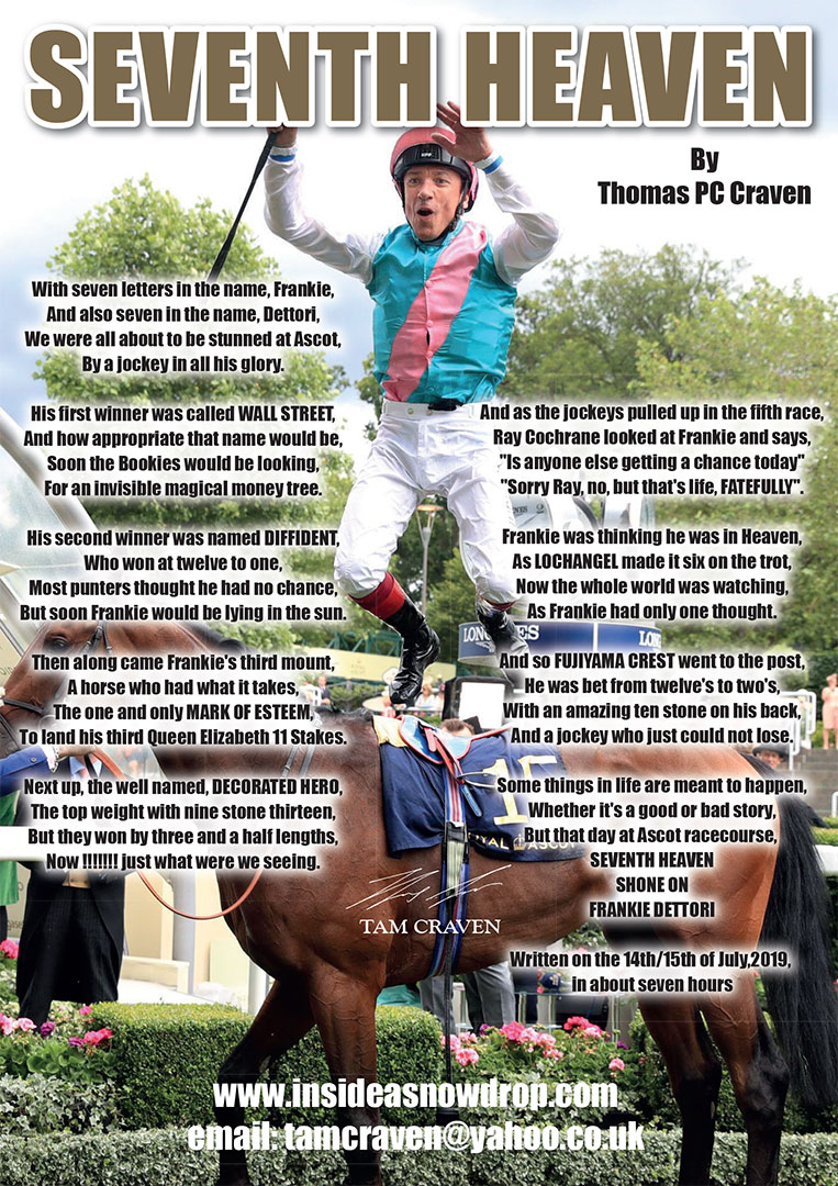Seventh Heaven Frankie Dettori Poster