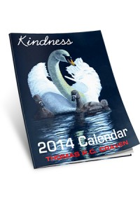 2014 calendar kindness front