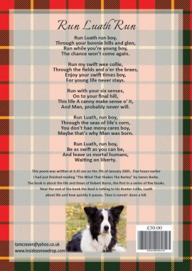 rabbie & luath book back cover by Tam Craven