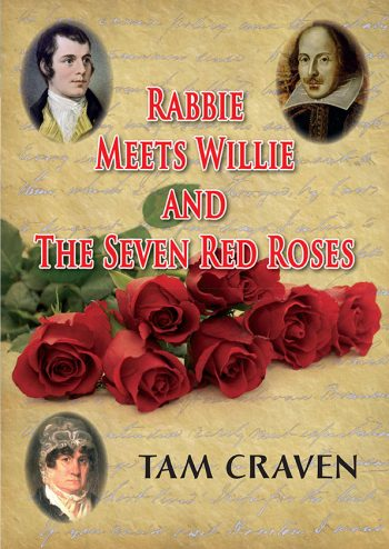 tam craven book, rabbie meets willie and the seven red roses, front cover
